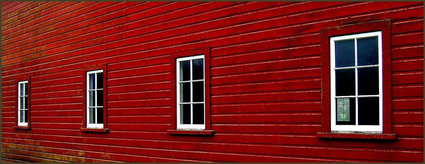 Red Barn Windows